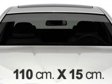 110cm. x 15cm. Gray Windscreen Stripe Decals