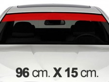 96cm. x 15cm. Red Windscreen Stripe Decals